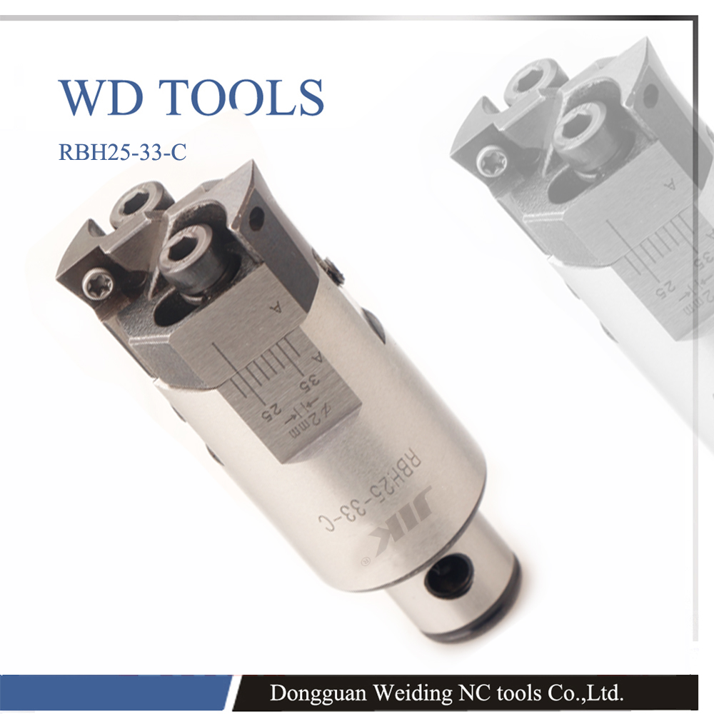High precision RBH40 55mm Twin-bit Rough Boring Head used for deep holes, 0.02mm Grade with 10pcs CCMT09T304