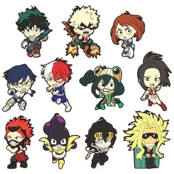 My Hero Academia Anime Boku no Hero Academia Allmight Eijiro Uraraka Eraser Head Hero Uniform Rubber Keychain embroidery