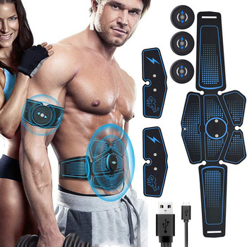Rechargeable EMS Abdominal Muscle Stimulator Exerciser Vibration Electric Muscle Training Machine Loss Weight Fitness  Equipment wireless abdominal muscle stimulator ems stimulation body slimming weight loss muscle exerciser for abdomen arm training