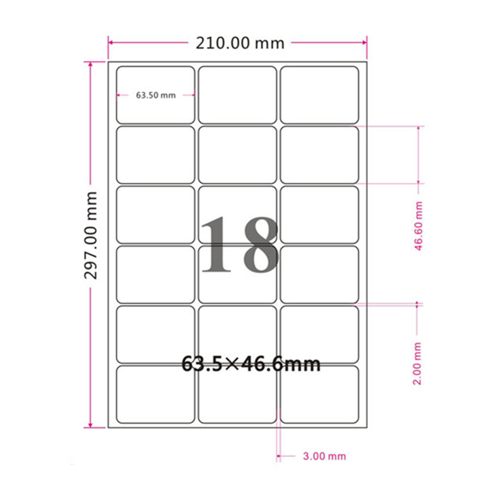 Glossy White Rouned Corner Square Self Adhesive Sticker Label Retail A4 Kraft Paper Printed Paper Fit for Laser Printer 1000 label self adhesive sticky a4 sheets address labels inkjet laser copier printer ebay amazon sticky address post pack paper