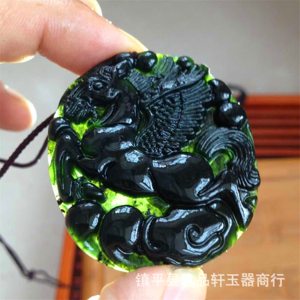 Natural nephrite jade horse pendant in charms from jewelry natural nephrite jade horse pendant in charms from jewelry accessories on aliexpress alibaba group aloadofball Images