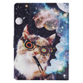 JIalonG Case for Ipad 2/3/4 High-end PU Cat Pattern for Ipad A1395/1396/1397 A1403/1404/1405 Stand Wallet Leather Cover Case
