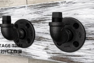 Image 1 - 2PCS/SET  7x5x5cm  Good quality Industrial style retro water pipe hook Wall hanging hook