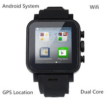 Smart Watch IPS Dual-Core Sync Bluetooth Wifi GPS Schrittzähler Heart Monitor 512 MB RAM 4 GB Smartwatch Für Android iOS