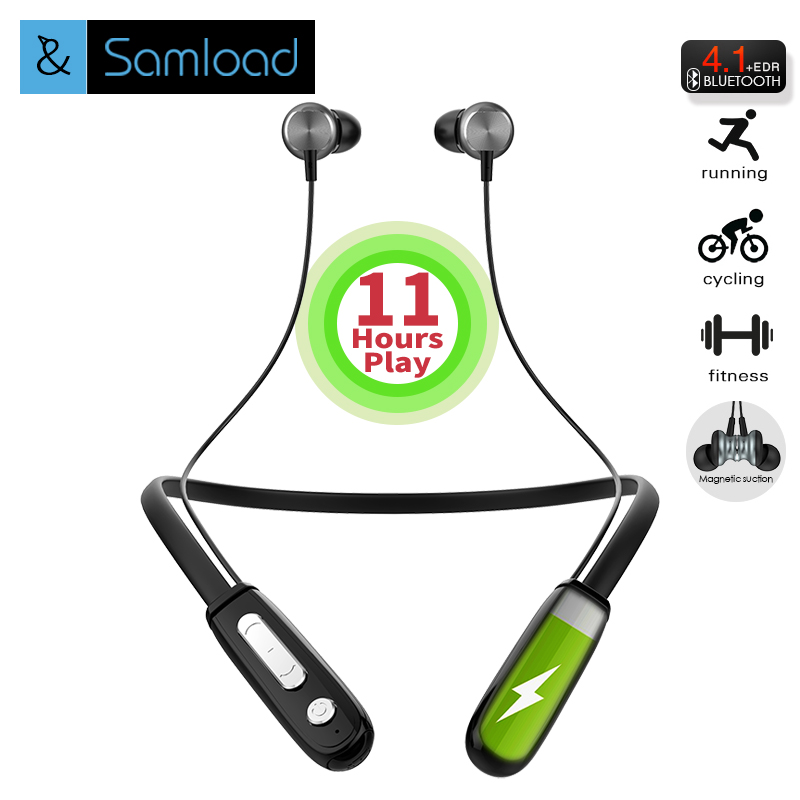 Samload Flex Bluetooth Earphone Sports Wireless Headphones Stereo Magnetic Bluetooth Headset for Phone Xiaomi iPhone Android IOS 50pcs lot original s9 bluetooth headset s9 sports headphones wireless headset for iphone android iso