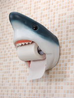 Bathroom paper towel holder Shark dolphins toilet roll holder Bathroom waterproof wall mounted creative personality tissue box
