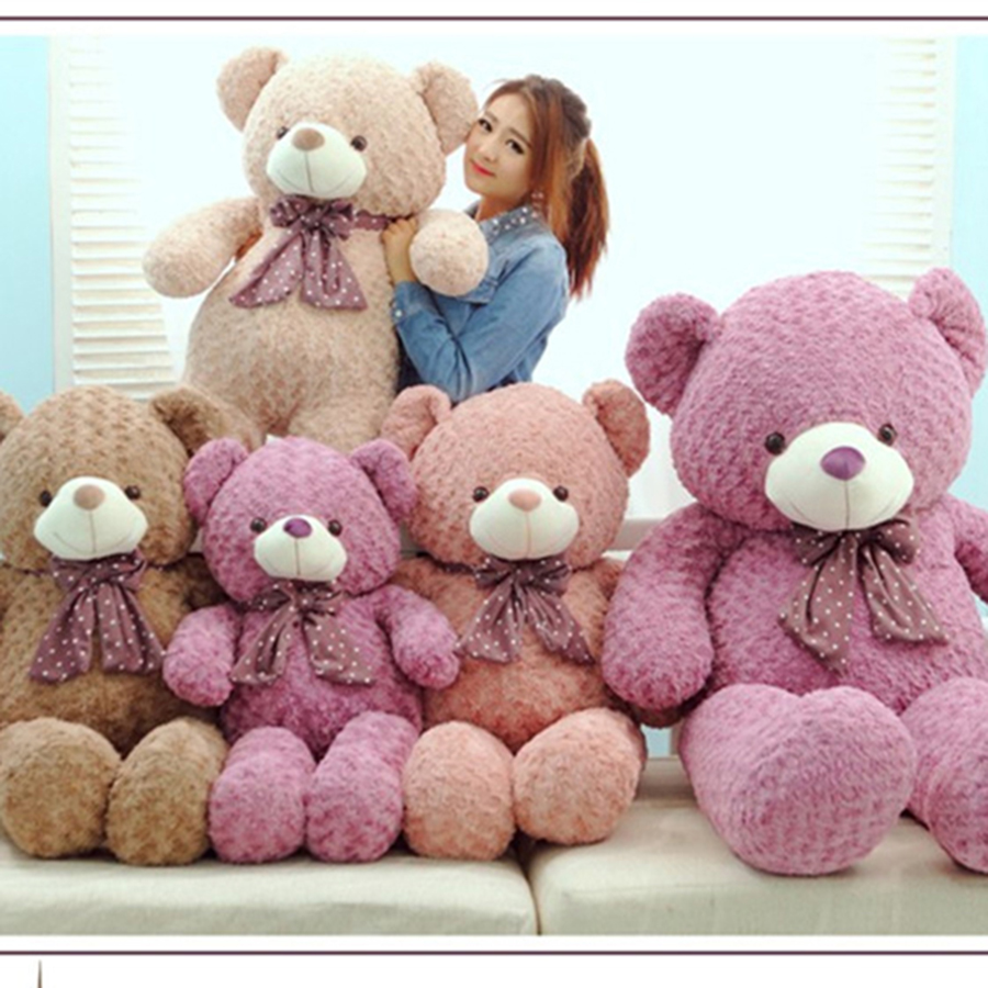 Stuffed Toys Girls Boys Stuffed Plush Animals Large Bears Giant Teddy Bear Rilakkuma Knuffel Christmas Girls Cotton Soft 70A0531 fancytrader big giant plush bear 160cm soft cotton stuffed teddy bears toys best gifts for children