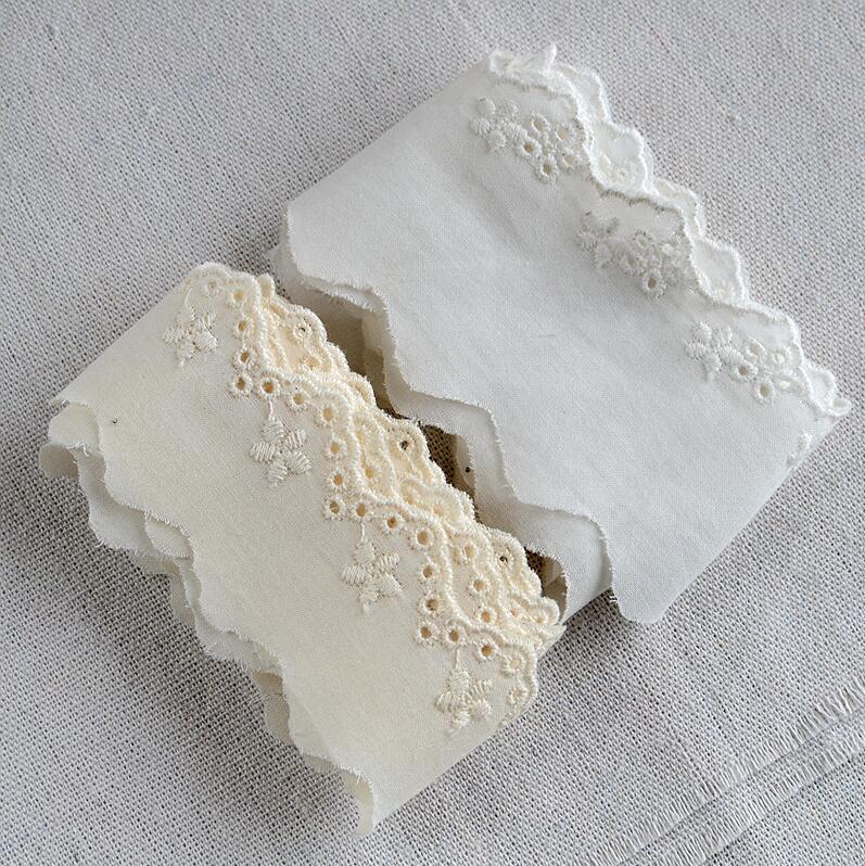 Кружева из 100% хлопка с вышивкой 3 метра для ремесла, кружевная ткань, венецианская хлопчатобумажная ткань с орнаментом