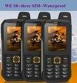 Original Waterproof phone WE S8 Power Bank GSM Senior old man IP68 Rugged shockproof cell three sim sonim H6 DG22 a12 X1 X6 xp6
