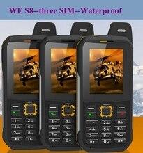 Оригинальный Водонепроницаемый телефон МЫ S8 Банк GSM Старший старик IP68 прочный противоударный сотовый три sim sonim H6 DG22 a12 X1 X6 xp6