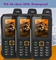 Teléfono Impermeable Original NOS S8 Banco de Potencia GSM Superior anciano IP68 resistente a prueba de golpes celular tres sim sonim h6 dg22 a12 x1 x6 xp6