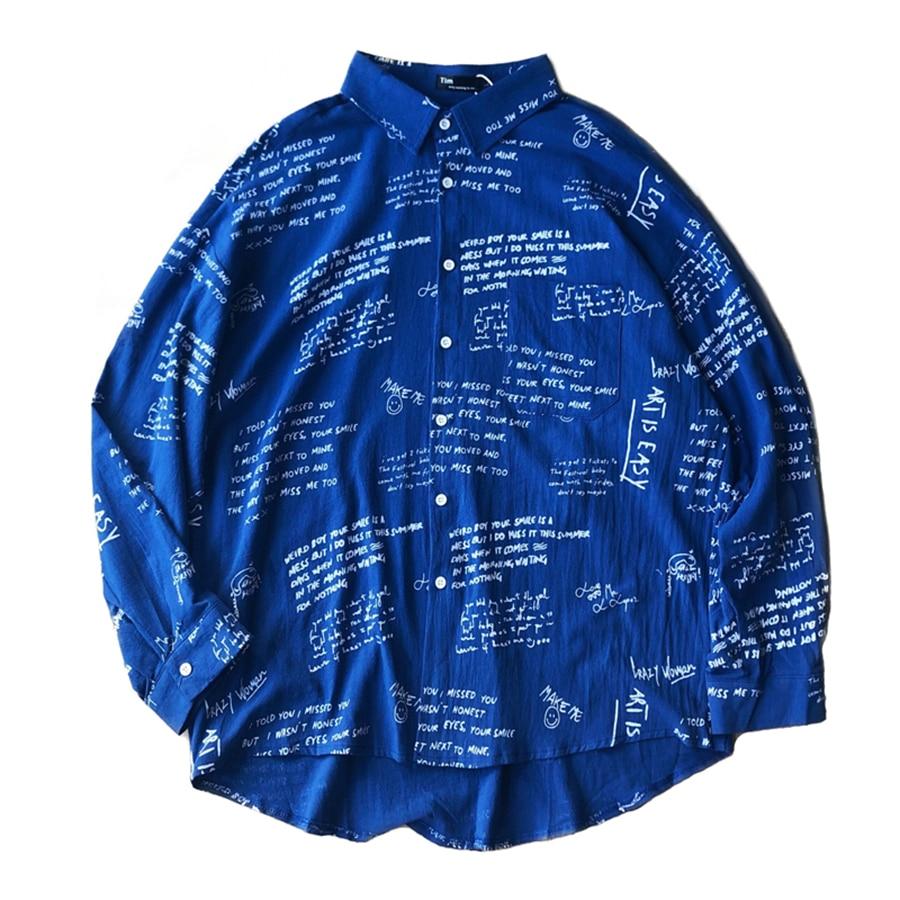 Chemise Black Nouveau À Panjang Automne Casual Motif Erkek Camisa Estampada Kemeja Pria Personnalité Hommes 70b0613 Manches Lengan blue Gomlek Longues UU5pqw