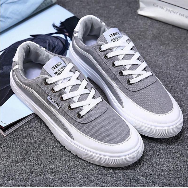 새 도착 사계절 컴포트 캐주얼 신발 남자 캔버스 - 남성용 신발 - 사진 3