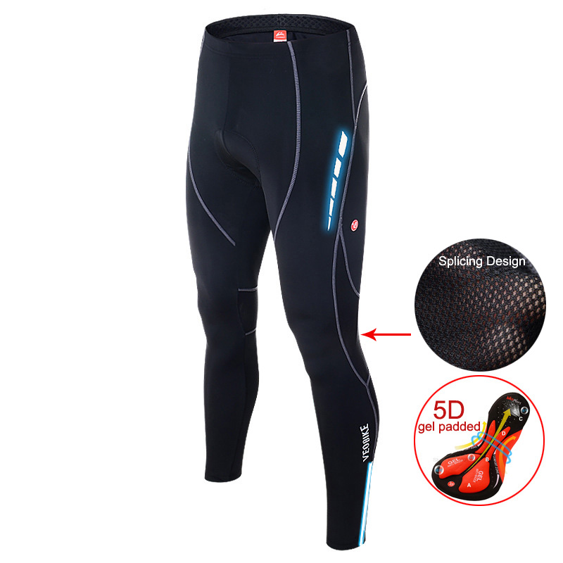 Men Long Cycling Pants Mtb Bike Trousers Mens Bicycle Shorts Gel Padded 5d Sportswear Reflective Tights Shorts Cycle Clothing