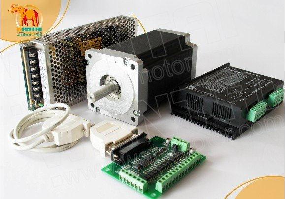 Hot Sell! CNC Wantai Nema34 Stepper Motor 85BYGH450C-012 1600oz-in+Driver DQ860MA 7.8A 80V 256 Micro Router Metal Grind Foam hot sell cnc router wantai 3pcs stepper motor driver dq420ma 1 7a 36v 128micro 3d printer engraver for nema11 16 17 motor