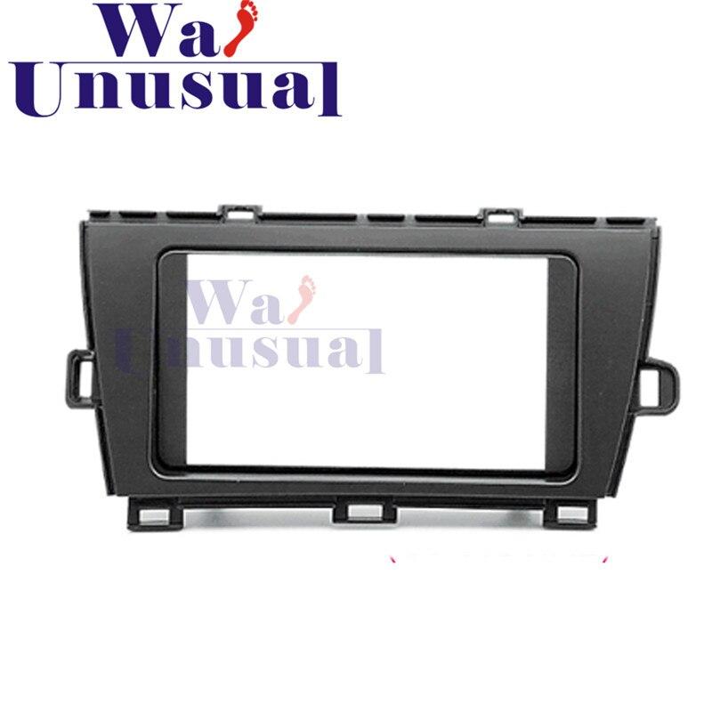 Panneau de Fascia d'autoradio de qualité supérieure 2 DIN pour Toyota Prius (ZVW30, 35) 2009-(RHD) Kit d'installation de garniture de tableau de bord stéréo