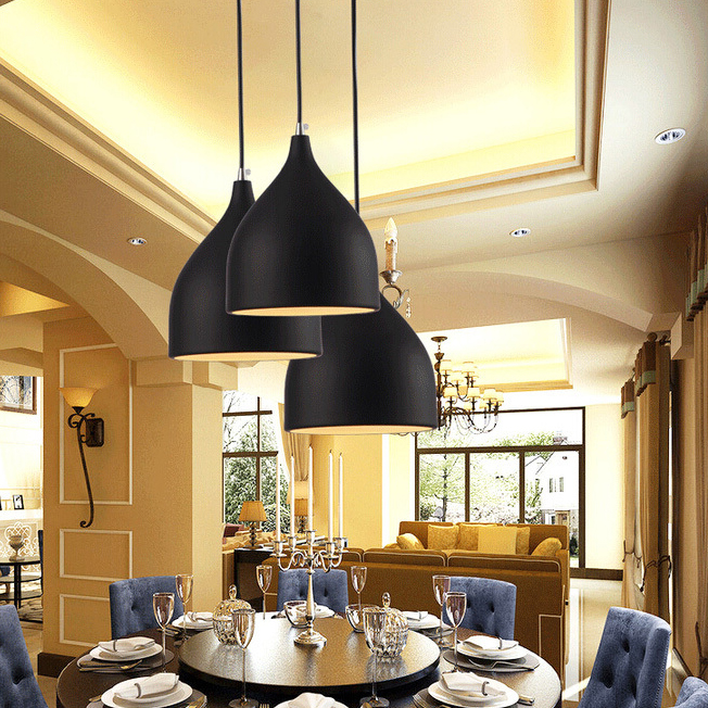 3 colores lámpara moderna sala de estar mesa de comedor estilo ...