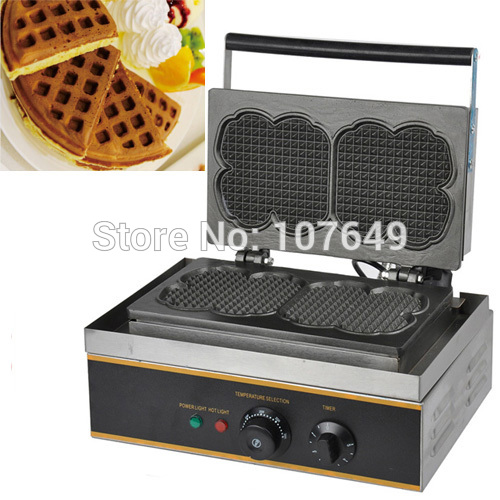 Free Shipping to USA/Canada/Japan/Mexico 110v Electric Commercial Use Non-stick Dual Waffle Machine Maker Iron Baker donut making frying machine with electric motor free shipping to us canada europe