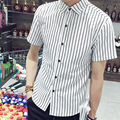 Nuevos Hombres casual Camiseta de Algodón de Manga Corta Camisa de Los Hombres Ropa Casual de Mezclilla Impresa Camisa Slim Fit Shirt Designer tamaño M-3XL, SMS5