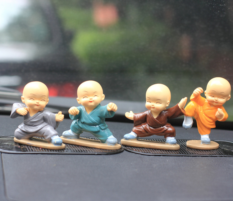 buy chinese kung fu shaolin kung fu little monks kid creative car decoration. Black Bedroom Furniture Sets. Home Design Ideas
