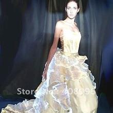 Оптическое волокно светящийся формальный наряд для вечерней вечеринки/свадебное платье/модное шоу/платье выпускного вечера