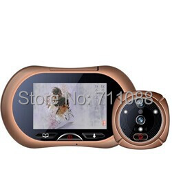 Digital smart peephole door viewer 0.3MP camera photo&video recording 3.7 TFT LCD touch screen with two modes LT-SH-2wg