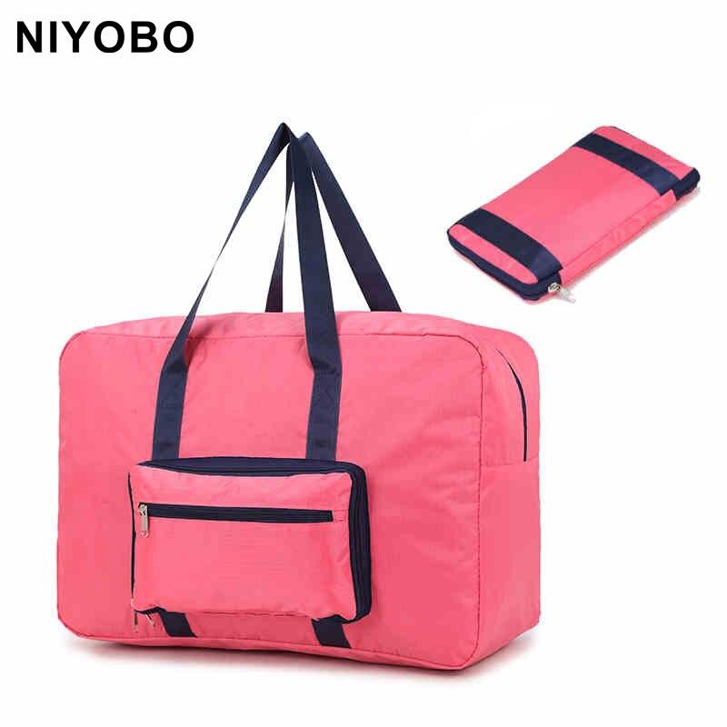 Korean Style Fashion Women Travel Bag Large Capacity Luggage Bag Folding Bag Travel Handbags PT1061