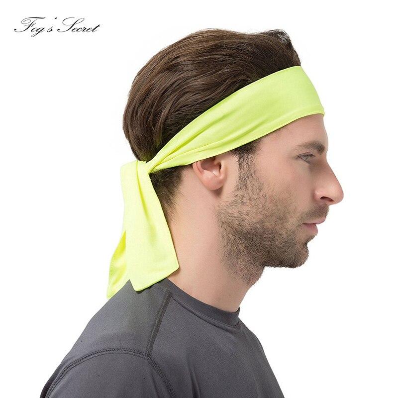 2 Pcs Headband Men Couple Headbands Hair Outside Sport Man and Women Basketball Run Bandanas Antiperspirant Hair band
