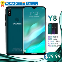 DOOGEE Y8 6.1 inch Waterdrop Screen Smartphone 3GB 16GB 8MP+5MP Face ID Android 9.0 MTK6739 Quad-Core 3400mAh 4G LTE cellphone(China)