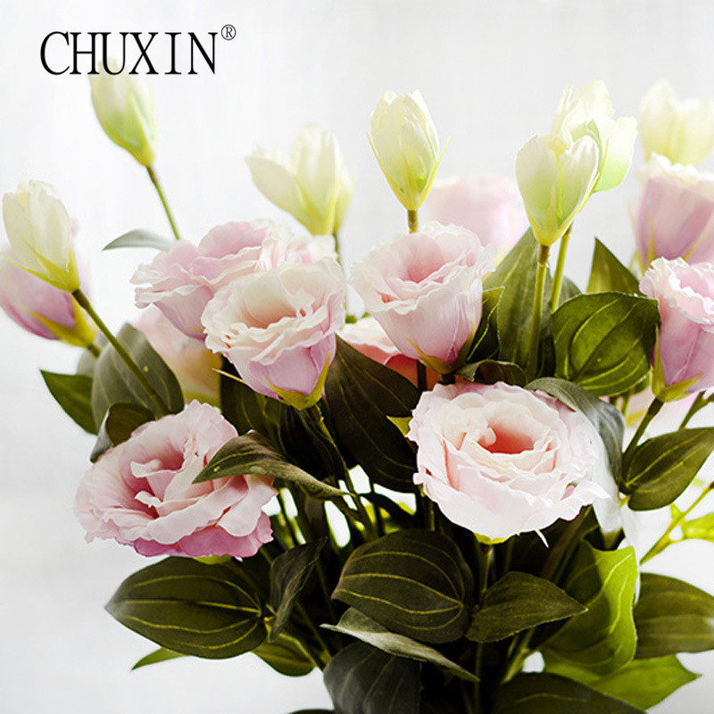 3pcs/lot Eustoma artificial silk flower home window balcony accessory photography backgrounds Platycladus orientalis