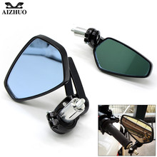 Handle Bar End Mirror Universal Motorcycle Rear View Mirrror For KAWASAKI Z750R ZX10R ZX6R/636 H2R ZZR/ZX1400 S NINJA 300