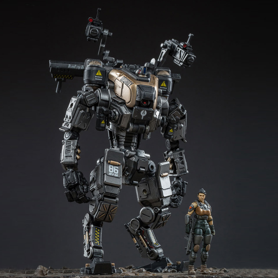 DIY Abnehmbare Mecha Modell Soldat Modell Bau Spielzeug Mit Hoher Grad Von Reduktion (Mecha Höhe: 22 cm; soldat Höhe: 7,5 cm)-in Action & Spielfiguren aus Spielzeug und Hobbys bei  Gruppe 1