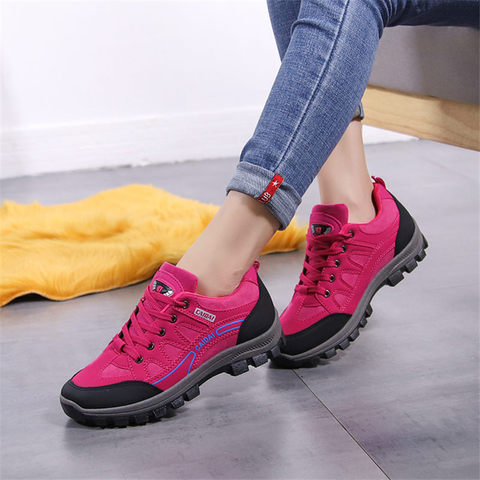 Women& Men Hiking Shoes Outdoor Sneakers Women Travel Shoes Non-slip Breathable Waterproof Sports Shoes Work Shoes Male Trekking Lahore