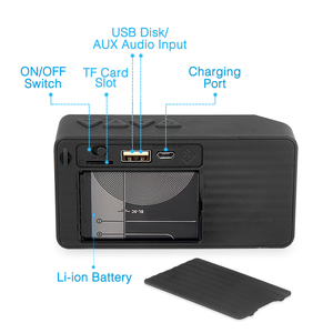 Image 4 - ミニ Bluetooth スピーカー X3 サポート TF USB FM ラジオ再生ワイヤレスポータブル音楽サウンドボックスサブウーファースピーカーとマイク