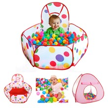 100PCs Ball Game Pit Folding Kids Ocean Tent Playpen Pool Portable Children Game Play Tent Playing House Tent And ball apart