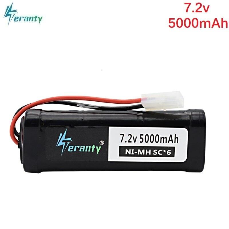 SC * 6 celdas 7,2 V 5000mAh 15c con enchufe Tamiya recargable Ni-MH batería para RC control remoto juguetes RC coches 7,2 v batería