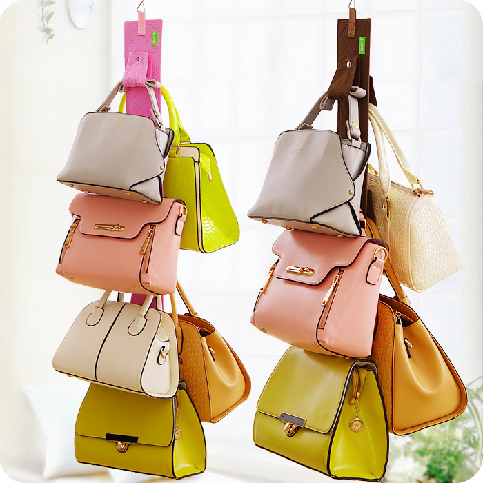 Bags Storage Bag Fashion Brief Door After Wardrobe Multi Layer Lather Hanger Handbags Hanging Bar In From Home Garden On
