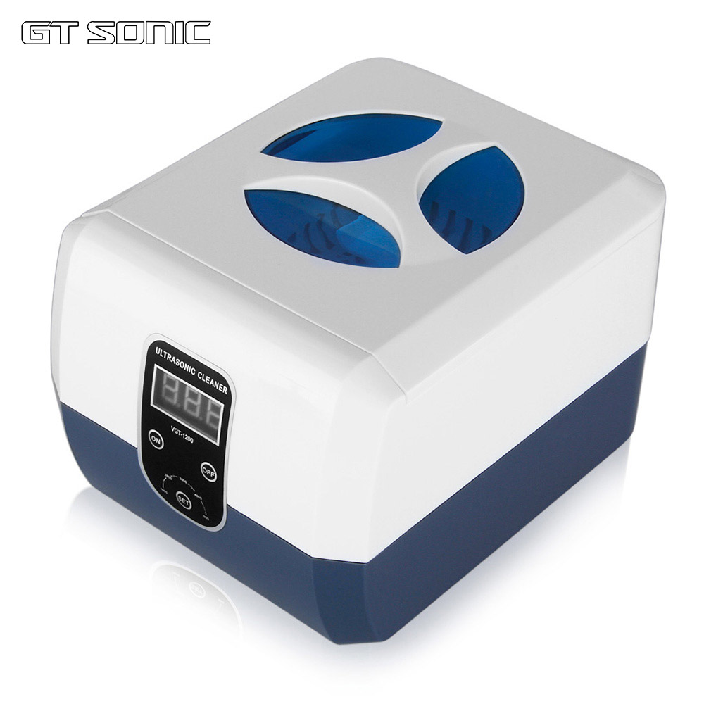GTSonic VGT 1200 1300 ml nettoyeur à ultrasons en acier inoxydable réservoir minuterie lunettes prothèse dentaire bijoux ultrasons réservoir de nettoyage