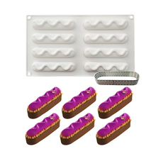 8 Holes Wave Oval Curved Silicone Molds Dessert Mold Cake Decorating Tools For Baking Mould Mousse Chocolate Pan