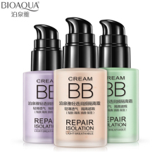 BIOAQUA Facial Foundation Cosemtic Primer Moisturizer Natural Make Up Whitening Breathable Flawless Cover Acne BB Cream Makeup