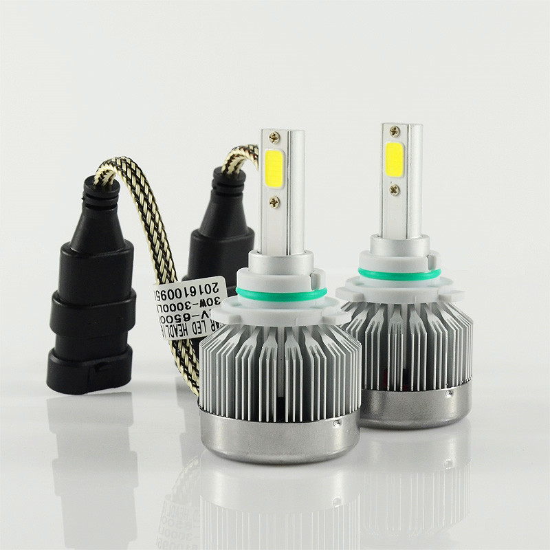 Free shipping one kit Super Bright 6000lM Car Headlight HB4/9006 60W COB LED Auto Front Fog Bulb Automobile Headlamp 6000k white 2pcs set 72w 7200lm h7 cob led car headlight headlamp auto lamps led kit 6000k headlight bulb light car headlight fog light