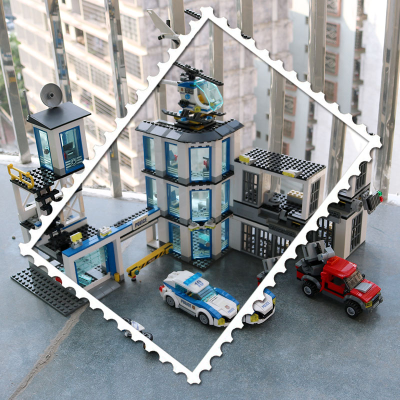 New 02020 965Pcs City Series The New Police Station Set Compatible With 60141 Building Blocks Bricks