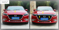 Lapetus Accessories For Mazda 3 AXELA Sedan Hatchback 2017 2018 Front Hood Bonnet Mesh Grille Grill Bumper Cover Kit Trim