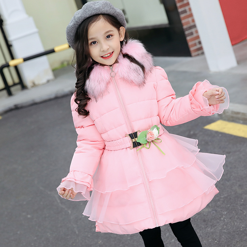 Girl Winter Coat Baby Girl Clothes 2018 New Fashion Warm Thick Hooded Children's Jackets Outerwear Kids Winter Clothes For Girls стоимость