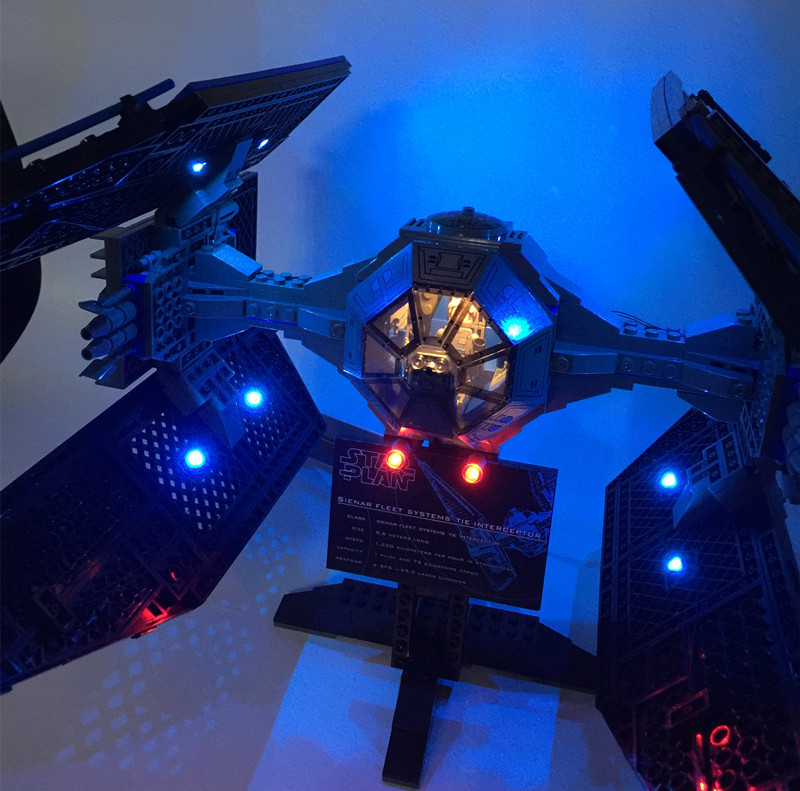 LED Light Kit (only light included) for lego 7181 and 05044 Star Wars The TIE Interceptor ( not include the bricks set) led light up kit only light for lego 10243 and 15010 creator parisian restaurant building bricks set not included