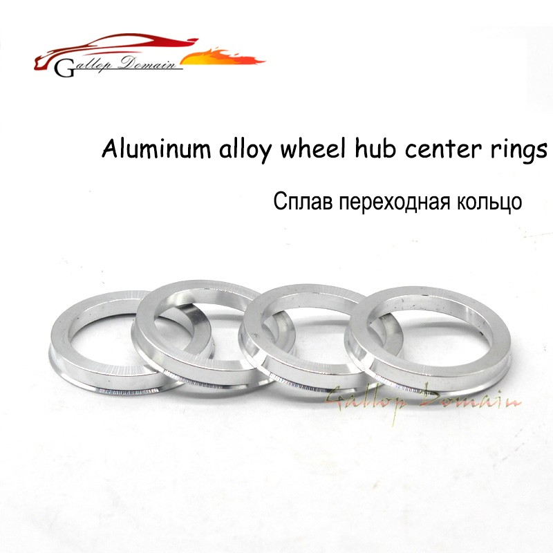 Set of 4 Wheel Hub Centric Rings Alloy Aluminum OD=73.1mm To ID=57.1mm Hubrings