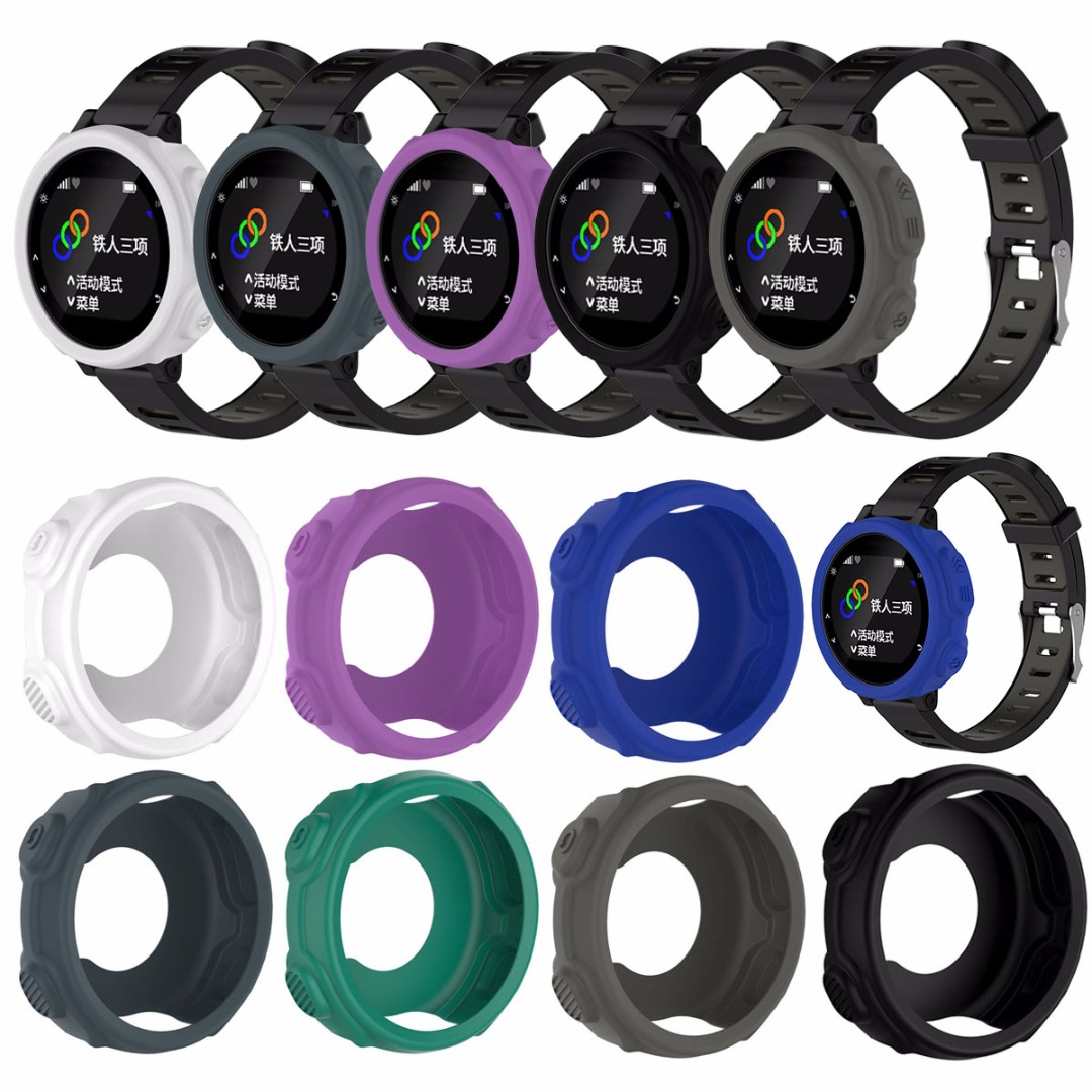 Silicone Protective Case Cover Band Cover Case Protector For Garmin Forerunner 235 735XT GPS Watch