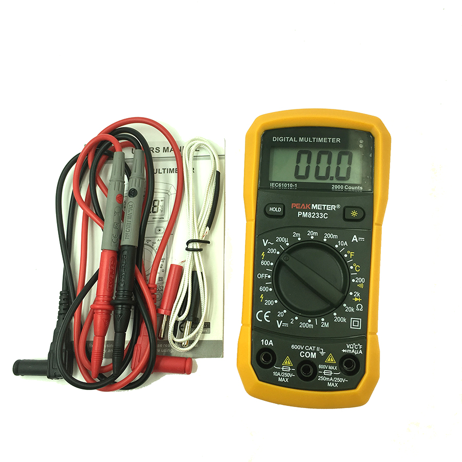 digital multimeter avo meter dc ac voltage current resistance temperaturetester with induction. Black Bedroom Furniture Sets. Home Design Ideas