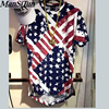 2017 Latest Hip Hop Unisex Man In The American Flag Sabotage The Oversized T Shirt Extension