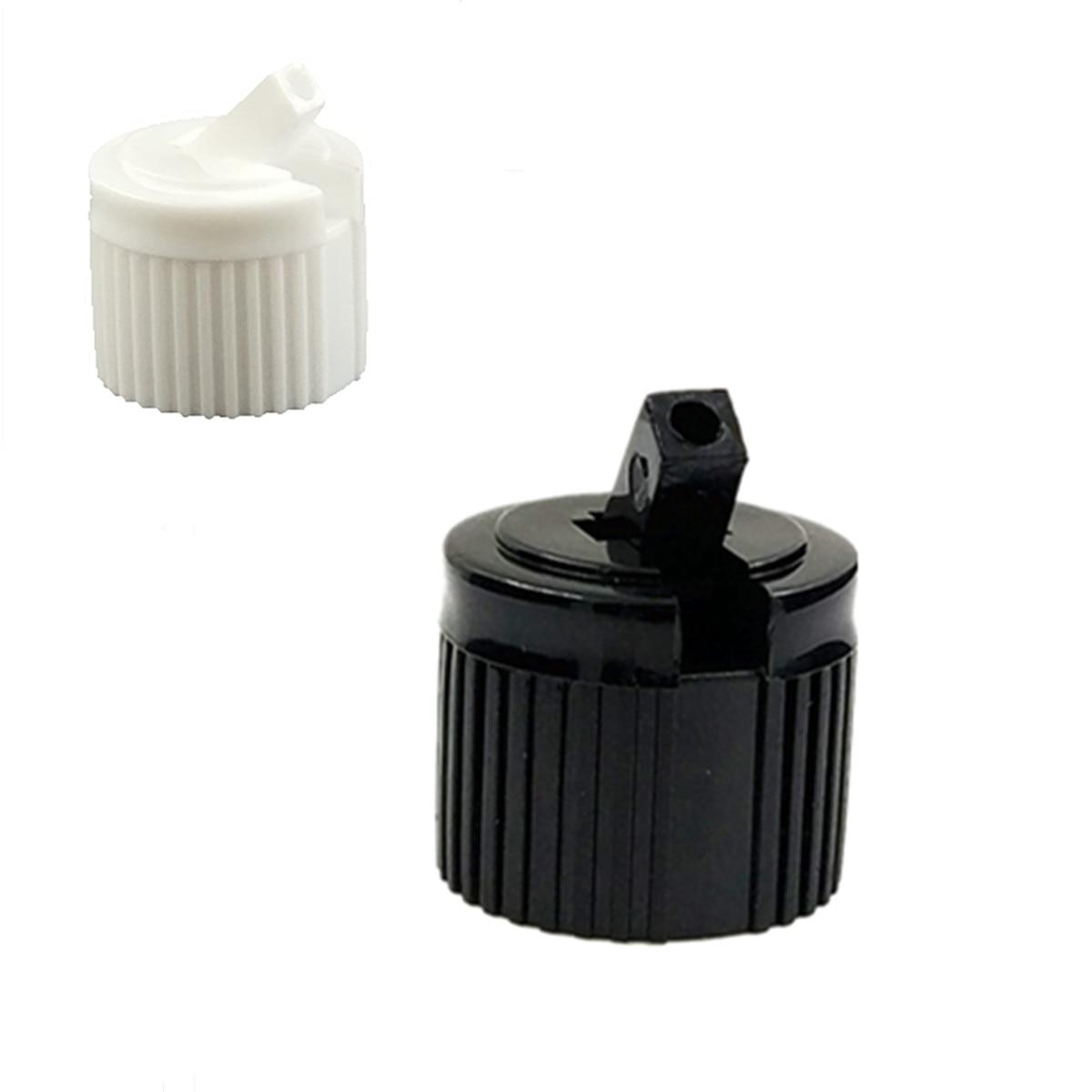 20-410 Ribbed Side Plastic Spout Top Caps Dispensing TURRET Cap 10pc
